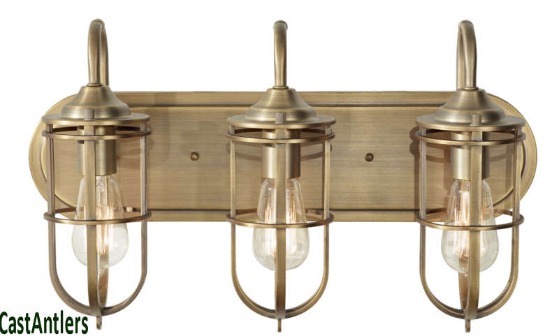 Retro Vintage Industrial Edison 3 Light Bathroom Vanity Fixture