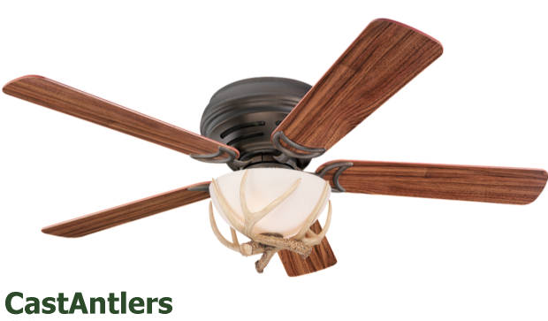52 Quot Hugger Rustic Cabin Lodge Antler Ceiling Fan Ebay