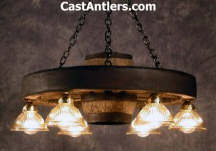 Wagon Wheel Chandelier Lighting