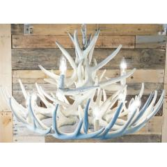 Pure White Antler Chandeliers