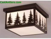 12in Outdoor Ceiling Light (Trees)
