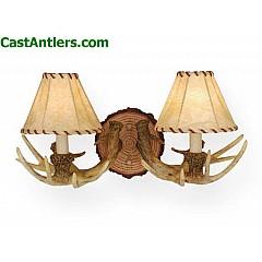 2-Light Cast Antler Wall Light