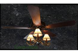 "Rustic Ceiling Fan - 52"" 3-Light Antler Indoor Farmhouse Cabin"