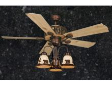 "52"" Creek Cabin Ceiling Fan w/ Light Kit (Multiple Scene Options)"