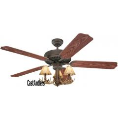 "44"" 3 Light Antler Ceiling Fan"