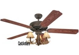 "42"" 3 Light Antler Indoor/Outdoor Ceiling Fan"