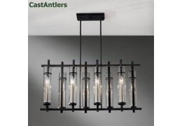 8-Light Antique Iron Island Chandelier