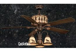 "56"" Yukon Ceiling Fan w/ 3 Light Kit"