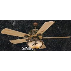 """52"""" Weathered Patina Ceiling Fan"""