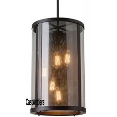 5-Light Outdoor Modern Chandelier Oil Rubbed Bronze