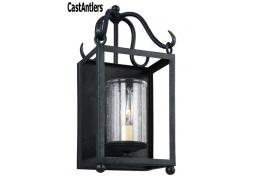 1- Light Antique Forged Iron Wall Sconce