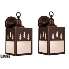 5in Outdoor Wall Light (Trees) -- price is per pair