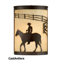Western 1-Light Indoor/Outdoor Rustic Sconce