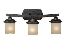 3-Light Black Walnut Vanity Light