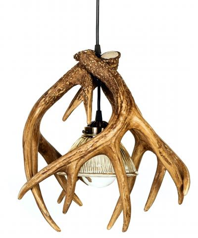 Whitetail 3 Cast Antler Pendant