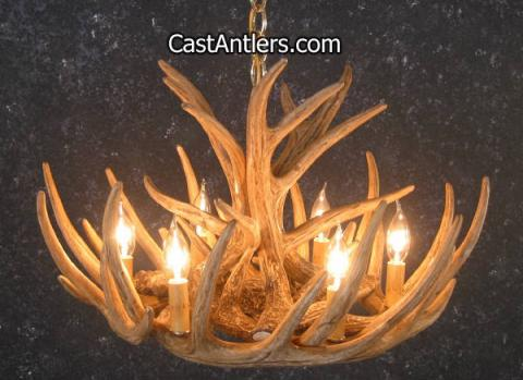 Whitetail 9 Castcade Antler Chandelier