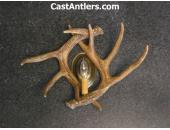 Cast Whitetail 2 Antler Wall Sconces (price is for 2 sconces)