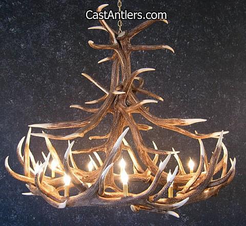 Elk 12 Cast Antler Chandelier