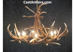 Elk 6 Cast Antler Chandelier