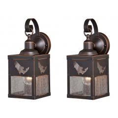 5in Outdoor Wall Light (Bass Fish) -- price is per pair