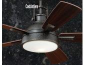 "52"" Rustic Loft Bronze Industrial Ceiling Fan with Light"