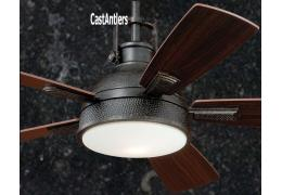 "52"" Rustic Loft Bronze Industrial Ceiling Fan with Light and Remote"