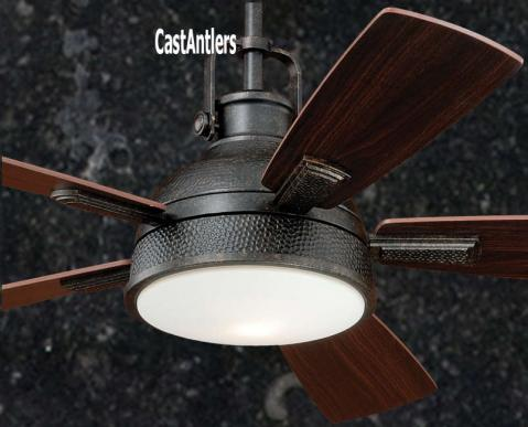 """52"""" Rustic Loft Bronze Industrial Ceiling Fan with Light and Remote"""