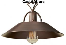 Industrial Light Pendant - Antique Copper