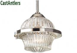 Industrial Light Pendant - Nickel/Glass