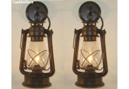 Large Rustic Lantern Wall Sconce (price is for 2 sconces)