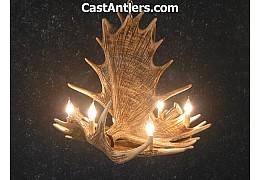 Moose 4 Cast Antler Chandelier
