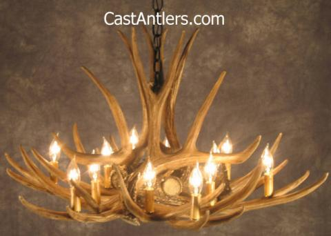Mule Deer 9 Cast Antler Chandelier