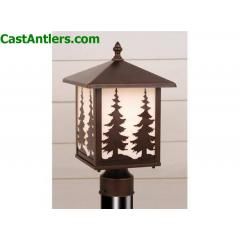 Outdoor Post Light (Trees)