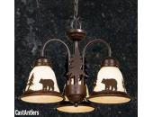 Yukon Burnished Bronze Three-Light Chandelier