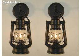 Small Black Lantern Wall Sconce (price is for 2 sconces)