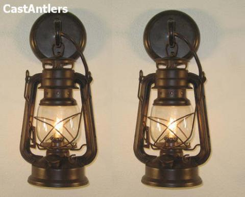 Small Rustic Lantern Wall Sconce (price is for 2 sconces)