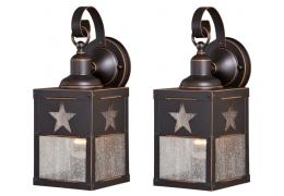 5in Outdoor Wall Light (Texas Star) -- price is per pair