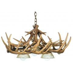 Whitetail 10 Verde Antler Chandelier w/ 3 Downlights