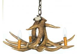 Whitetail 3 Cast Antler Chandelier/Pendant