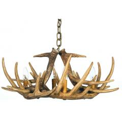 Whitetail 6 Cast Antler Chandelier