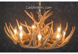 Whitetail 12 Castcade Antler Chandelier