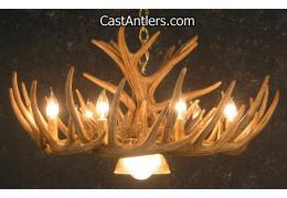 Verde Deer Antler Chandelier w/ Downlight