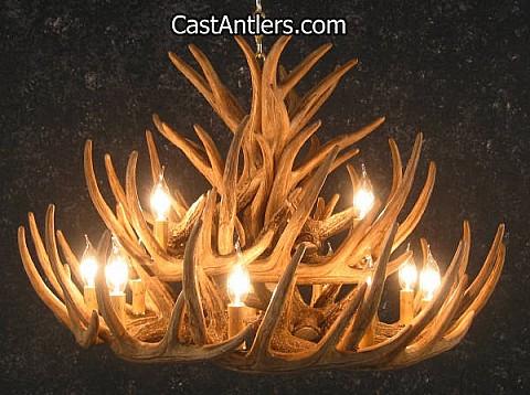 Whitetail 21 Cast Cascade Antler Chandelier