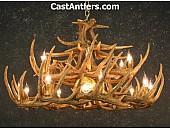 Whitetail 24 Cast Antler Chandelier w/ Downlight