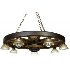 42 inch Downlight Western Wagon Wheel Chandelier
