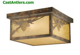 Yukon Outdoor Ceiling Light Old World Patina