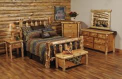 Cedar Log Bedroom