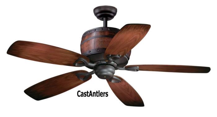 Standard Size Fans 52 Quot Wine Barrel Ceiling Fan Rustic