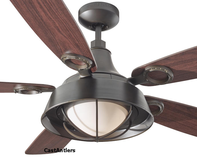 "Outdoor Lighting | 52"" Cage Downlight Rustic Ceiling Fan ..."