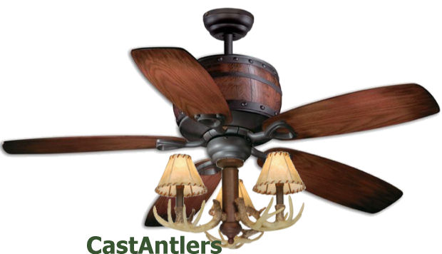 Standard size fans 52 reproduction antler barrel ceiling fan 52 reproduction antler barrel ceiling fan aloadofball Choice Image
